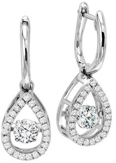 Watch These Diamonds Shimmer And Sparkle With Her Every Breath Rhythm Of Love Carat Diamond Drop Earrings