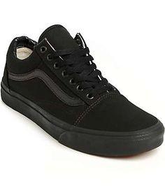 Vans Old Skool Mono Black Skate Shoes (Mens) Old Skool Black ddcdc59b9