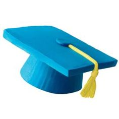 Topping off success has never been easier and more impressive! Just invert standard muffins, ice and top with 3 1/2 in. square cookies to create a mortarboard. The tassel is cleverly made with yellow taffy. Hats off to this most- likely-to-succeed dessert.