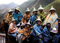 The Basotho people also known as Sotho, are Bantu people of the Kingdom of Lesotho (lusō'tō), an enclave within the Republic of South Africa. African Culture, African Art, African History, African Style, We Are The World, People Around The World, African Textiles, Out Of Africa, World Cultures