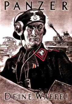 "German WWII poster, ""Panzer, Deine Waffe"" (Panzer, Your Weapon (?))"