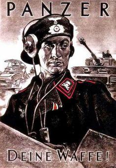 """German WWII poster, """"Panzer, Deine Waffe"""" (Panzer, Your Weapon (?))"""