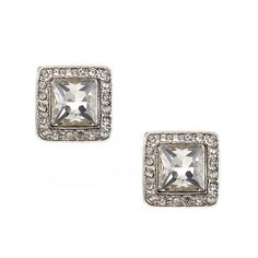 Square Crystal Stud earrings - pretty