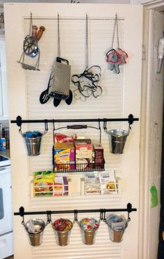 IKEA fintorp hanging in pantry holding household goods