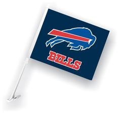 Buffalo Bills Car Flag W/Wall Brackett