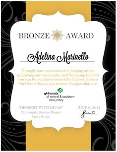 Free printable certificate templates for teachers girl scouts bronze award certificate made using microsoft word standard template free and yadclub Choice Image