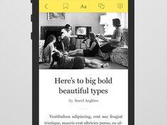 Dribbble - Mobile article by Sorel Arghire
