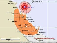 Tropical Cyclone Forecast Track Map Page St Lawrence, Severe Weather, Weather Forecast, Tropical, Map, Track, Friday, Australia, Science