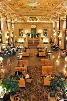 Chicago IL. The Palmer House is where i stayed. It's old and very luxurious. Has a lot of history. I would definitely recommend it. Not really home decor, but I've stayed there and the decor is gorgeous.