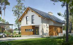 Z Widokiem - wizualizacja 2 - Projekt małego domu z antresolą bez garażu