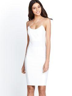 Kardashian Kollection PU Panel Dress   very.co.uk