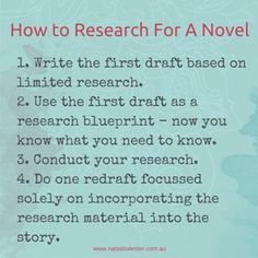This is a great tip for writers who who get so into the research portion of their novel that they forget to actually write anything  (aka me)