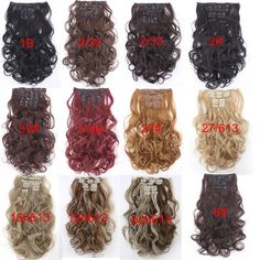 Material : Japan hightemperaturefiber Length : 20inch 50cmWeight : 120g(include clips) Color : Multicolor Hair Extension type : Full head hair Model number : 999 Item per package : 7Piece/set 1 pcs - 8 inch piece ( for the back of the head ) with 4 clips 2 pcs - 5 inch pieces ( for the back of the head ) with 3 clips 2 pcs - 3 inch pieces ( for the sides of the head ) with 2 clips 2 pcs - 1.5 inch pieces ( for the sides of the head ) with 1 clip Colored Hair Extensions, Clip In Hair Extensions, Long Curly, Hair Pieces, Hair Clips, Hair Color, Model, Hairpin Legs