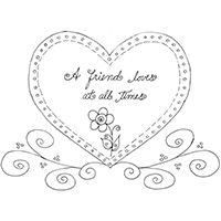 A Friend Loves At All Times Coloring Sheet Coloring Pages