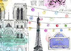 Paris illustrations