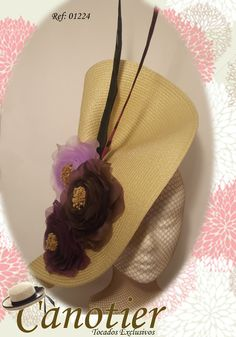 Tocados Canotier 01224-1 Kentucky Derby Race, Fascinator Diy, Derby Party, Fancy Hats, What To Wear, Style Me, Straw Hats, Elegant, Flowers