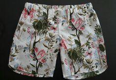floral linen shorts...#kaboofashion