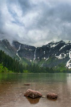 A rugged rainy day hike to Avalanche Lake, Glacier National Park. Glacier National Park is an easy day trip from nearby Kalispell, Montana.