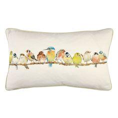 Garden Birds Hedgerow Cushion