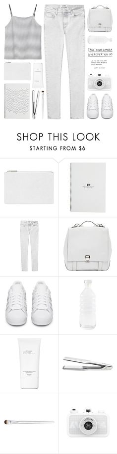 """""""#75"""" by zarcarla ❤ liked on Polyvore featuring Whistles, Acne Studios, Proenza Schouler, adidas Originals, canvas, Hermès, T3 and Liz Earle"""