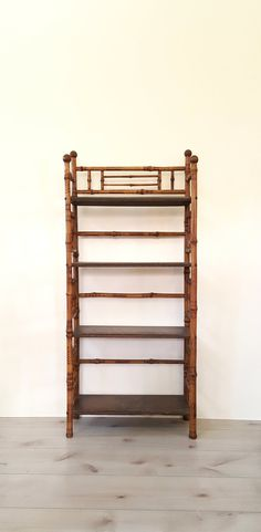 RESERVED Antique Bamboo Bookshelf/ Bookcase / Etagere / 4 Tier