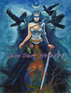 Blue Angel Publishing - Blessed Be - Lucy Cavendish - Artwork by Jane Starr Weils Triple Goddess, Angel Cards, Celtic Art, Blue Angels, Oracle Cards, Gods And Goddesses, Artist Names, Deities, Mystic