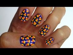 Candy Corn Nail Art Video Tutorial