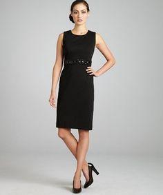 Calvin Klein black sheath dress ~58