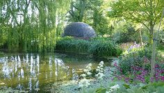 Exuberant gardens, fantastic follies & a super cafe await you at The Water Gardens at Westonbury Mill, Pembridge, Herefordshire