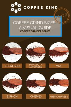Coffee Grind Size Chart https://www.facebook.com/pages/Coffee-Society/651773478236556