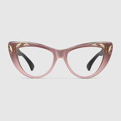 Oversize cat eye glasses