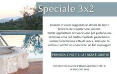Are you planning a trip to Tuscany? Then why not take advantage of this special 3 x 2 night promotion.    When booking 3 nights, the 3rd one in FREE!  Offer valid until the 16th of May 2013, subject to availability.