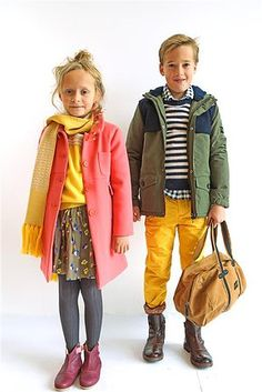 Cute for Fall! Love the bright yellow and layers!