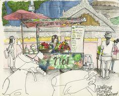 Urban Sketch in Pai, Thailand  Koosje Koene Illustrations - Learn to draw