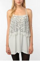 Silence and Noise embroidered silky dress, $79.99