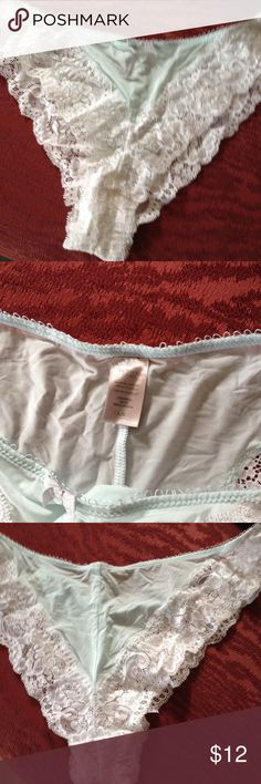 815713a66d The palest of pastel blue trimmed with white shimmering lace. Sz L Victoria s  Secret Intimates   Sleepwear Panties