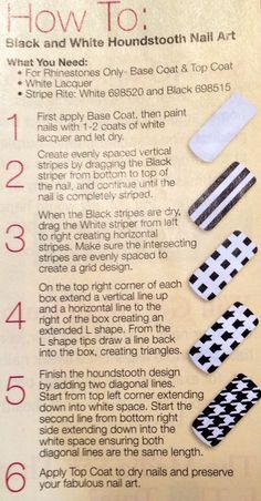 Houndstooth nail tutorial