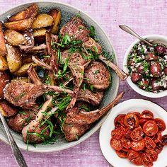 Lammkotletter med getostkräm | Recept ICA.se Chicken Wings, Meat, Food, Lamb, Essen, Meals, Yemek, Eten, Buffalo Wings