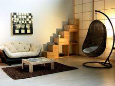 Zona Giorno - Wohnzimmer Zona giorno ed area relax con libreria, divano letto e Goccia. Wohnzimmer mit Schlafsofa, Buchregal, und Goccia. #japanstyle #japanshoji #japanholz #japanschiebetueren #interiordesign #arredare #madeinitlay #mobilien #meinehaus #meinhaus #myhause #cinius #relax #soggiorno #wohnzimmer