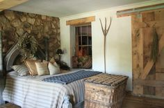 Sliding Barn Doors Bedroom Design Ideas, Pictures, Remodel and Decor