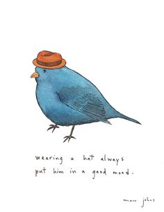 wearing a hat always put him in a good mood (by Marc Johns)
