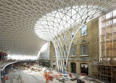 There are without some clever architects out there - this is the Kings Cross renovation in Londonfound on inhabitat. What a glorious roof