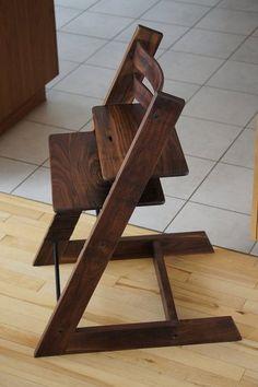 walnut highchair - Tripp Trapp design