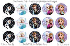 Frozen Sisters <3  ~ FREE Digital Bottle Cap Images!! https://www.facebook.com/thetrendyowlUS http://www.thetrendyowl.com