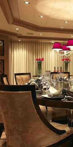 Luxury Dining Room - LOVE the curtains