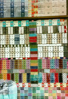 shop window for crafting or sewing. love the organized use of color!