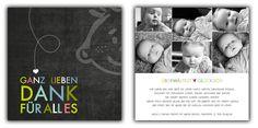 Dankeskarten - kartendings - Das Ding für Kartendesign. Geburtskarte. Geburtsanzeige. Dankeskarte.