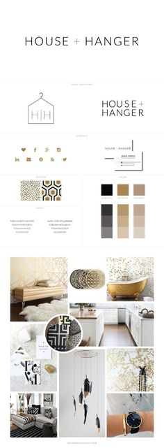 House and Hanger Blog Design by White Oak Creative - logo design, wordpress theme, mood board inspiration, blog design idea, graphic design, branding