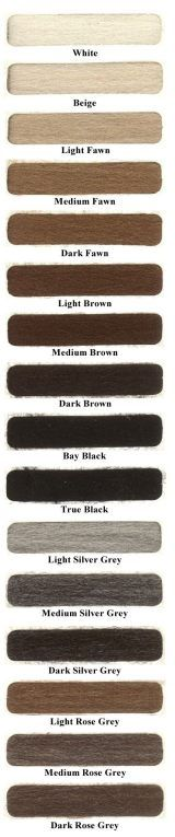 basic alpaca color chart - 22 natural colors More