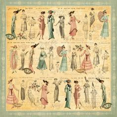 Graphic 45 - Ladies' Diary Collection - 12 x 12 Double Sided Paper - Garden Stroll Graphic 45, Retro Mode, Mode Vintage, Vintage Ladies, Victorian Ladies, Vintage Style, Vintage Pictures, Vintage Images, Vintage Paper
